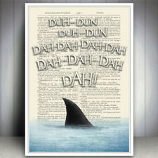 JAWS SHARK FUNNY BATHROOM BEACH SEASIDE PRINT PICTURE HUMOUR QUOTE ART POSTER