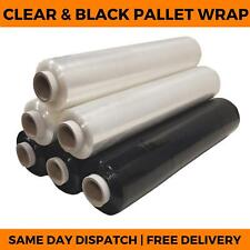 Pallet Wrap Clear Amp Black Stretch Cling Shrink Wrap Film Strong Cast Packing