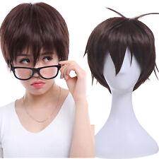 Ao no Exorcist Yukio Okumura Dark Brown Short Straight Party Wigs Cosplay Wig