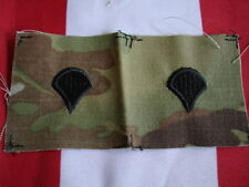 Multicam Rank SPC New Sew On Cap Set of 2 US Army NYCO Ripstop