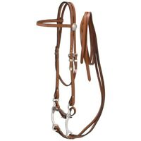 "Tough-1 King Series Complete Browband Bridle with Reins and 5"" Curb Bit"