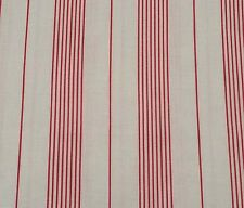 """1 yd 14"""" Collection of Edelin Wille Marcus Brothers Red on Off-White Stripe"""