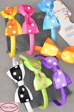 Lot of 40 cute, grosgrain ribbon headbands with bows - assorted colors