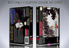 FINAL FANTASY 3. CUSTOM VERSION. Box/Case. Super Nintendo. BOX + COVER. NO GAME.