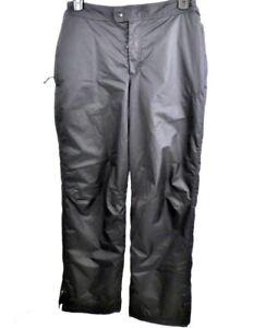 Champion Woman's Size Medium Adjustable Waist Black Puffer Winter Ski Snow Pants