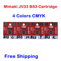 Chip Permanent for Mimaki JV33 BS3 Cartridge 4 Colors CMYK High Quality!
