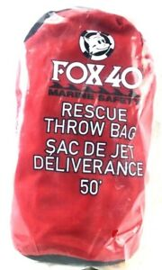 Fox 40 Marine Safety Rescue Throw Waterproof Bag 50' w/ Repacking Instructions