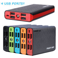 50000mAh 4 USB External Power Bank Portable LCD LED Charger for Cell Phone US