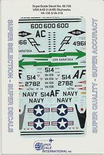 1/48 SuperScale Decals Navy Skyhawk A4D-2 A-4B VA-106 VA-216 48-756