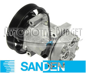 Sanden 4326 A/C Compressor w/Clutch for Volvo and Mack Trucks - NEW OEM