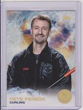 SUPER RARE 2014 TOPPS OLYMPIC PETE FENSON GOLD RAINBOW CARD #32 ~ CURLING