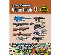 BrickArms Value Pack #9 Weapon Pack Army Military designed for LEGO Minifigure
