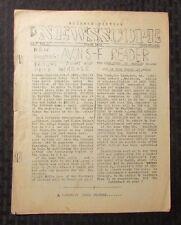 1951 NEWS SCOPE Science Fiction Fanzine v.7 #1 VG- 6pgs Avon Reader
