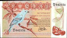 SURINAME,  2 1/2 (2.5) GULDEN, 1985,  P 119, UNC,  BANKNOTE, SOUTH AMERICA