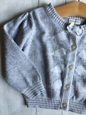 Baby Girl's Clothes 9-12 Months - Grey Now Button Up Cardigan By MONSOON 🐼🐼🐼