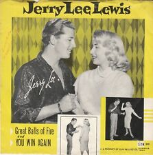 Jerry Lee Lewis 45 & PS (Sun 281) Great Balls Of Fire /You Win Again   MINT-