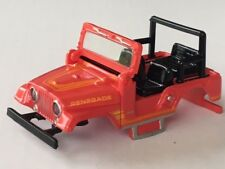 New AW Red Jeep CJ-5 Xtraction HO Slot Car Body Fits Aurora Mag Traction Chassis