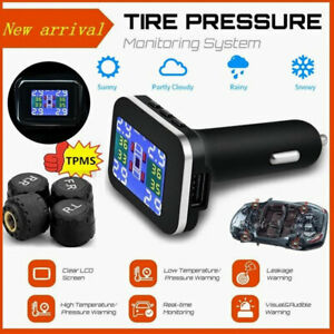 TPMS Car LCD Wireless Tire Pressure Monitoring System With 4 External Sensors