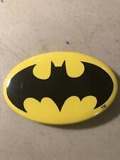 DC Comics BATMAN Logo Oval Pin / Button Vintage 1964 TM