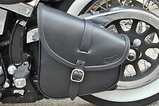 SWING ARM BAG  SADDLE BAG FOR HARLEY DAVIDSON SOFTAIL&RIGID FRAMES MADE IN ITALY