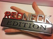 ⁉️ REDNECK EDITION EMBLEM CHEVROLET CAR TRUCK LOGO DECAL SIGN CHROME RED NECK 02