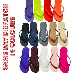 Original for HAVAIANAS Plain Summer Flip Flops Slim Brand New 14 Colours in 2021