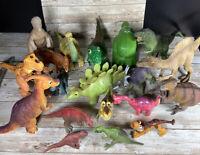 19 Dinosaur Figurine Lot, Some Movable, 1988-2011, Schleich Carnegie Safari +