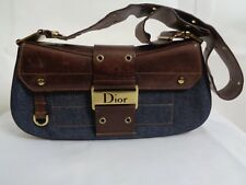 Dior second hand ladies denim/brown handbag