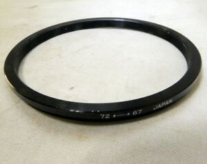 72mm to 67m Metal screw in step-down ring Telephoto for filter