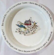 "Vintage Wedgewood Peter Rabbit Dish, 6.5"" Diameter x 1.5"" Tall"