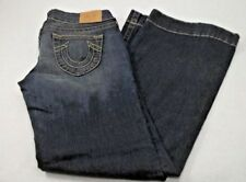True Religion Womens Jeans Size 31 RN 112790 CA 30427 Candice Gold Stitch Flair
