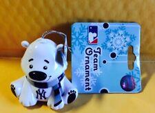 New York Yankees Bear Christmas Holiday Tree Ornament - NEW - FREE SHIPPING