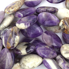 "20mm amethyst flat teardrop beads 15"" strand"