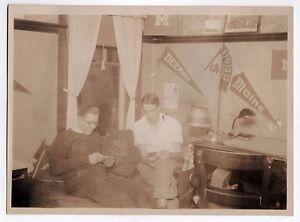 Original 1930 Photograph Photo UNIVERSITY OF MAINE ORONO Pennant DEERING Dorm