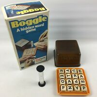 Vintage Boggle Board Game by Palitoy Parker, 1973, Boxed, Complete, Hidden Word
