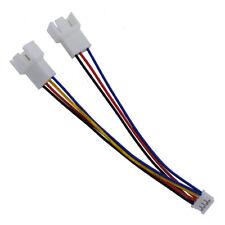 GPU PH2.0 Mini 4Pin to 2 Way CPU 4Pin PWM fan connector cable Lead Y Splitter