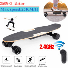 H2S 4 Wheel Electric Skateboard Longboard Double Engine Wireless Remote Control