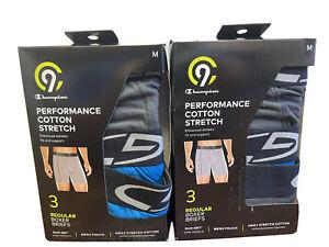 Champion Men's C9 3-Pack Performance Cotton Stretch Boxer Briefs - Size: Medium