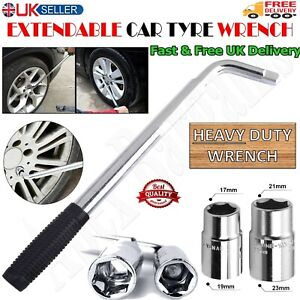 Universal Telescopic Wheel Brace Wrench Car Van Socket Tyre Nut 17/19, 21/23mm