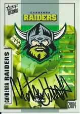 Autographed Single 2004 Season NRL & Rugby League Trading Cards