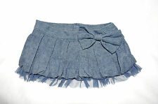 Build a Bear Jean Skirt with Bow and Blue Tule