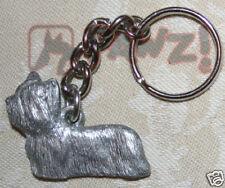 SKYE TERRIER Dog Fine Pewter Keychain Key Chain Ring