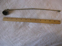 Vintage Brass Candle Snuffer Twisted Handle 12 Inches Long CL31-13