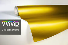 VVIVID8 gold chrome satin matte car wrap vinyl 100ft x 5ft conform stretch 3MIL