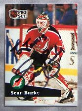Sean Burke New Jersey Devils 1991-92 Pro Set ProSet Signed Card