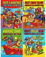 Grande A4 Nave Pirata & Tesoro Attività Sticker Fun & Libro da Colorare 4015