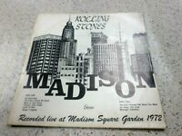 VINYL ALBUM RECORD,VERY RARE,ROLLING STONES MADISON SQUARE GARDEN 1972,COVER