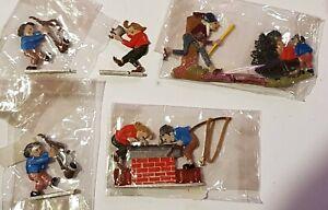 Zinnfiguren - Max und Moritz, bemalt