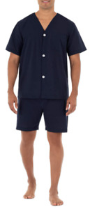 Fruit of the Loom Men's Broadcloth Short Sleeve Pajama Set   Size X-Large