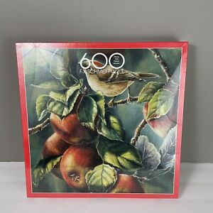 FX Schmid Ruby Crowns Puzzle 600 Pieces 1997 SEALED Apples Branches Bird 90316